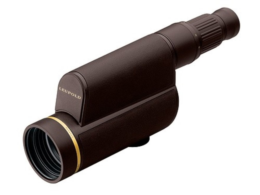 Leupold Golden Ring HD Spotting Scope 12-40x 60mm Armored Brown with Tripod, Window Mou...