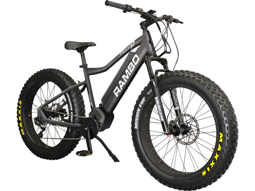 Rambo Bikes 1000 Watt Xtreme Performance Motorized Fat Bike Matte Black