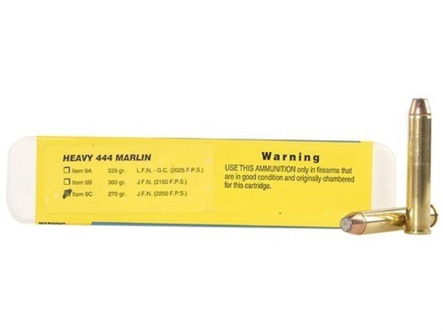 Buffalo Bore Ammunition 444 Marlin 270 Grain Jacketed Flat Nose Box of 20