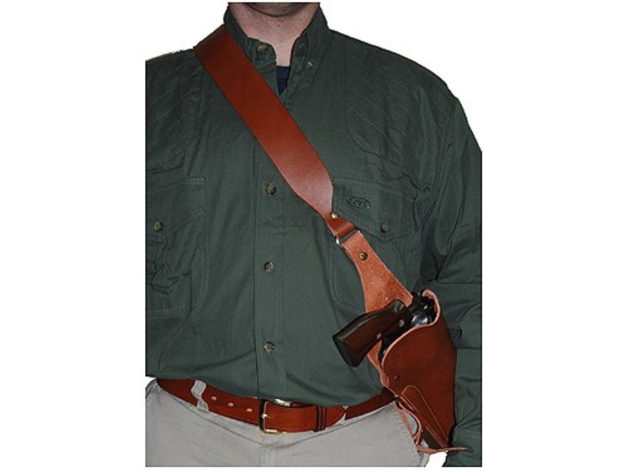 "Hunter Bandolier Style Holster S&W X-Frame 460, 500 8.375"" Barrel Leather Brown"