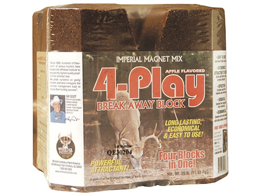 Whitetail Institute 4-Play Quad Block Deer Supplement Block 25 lb