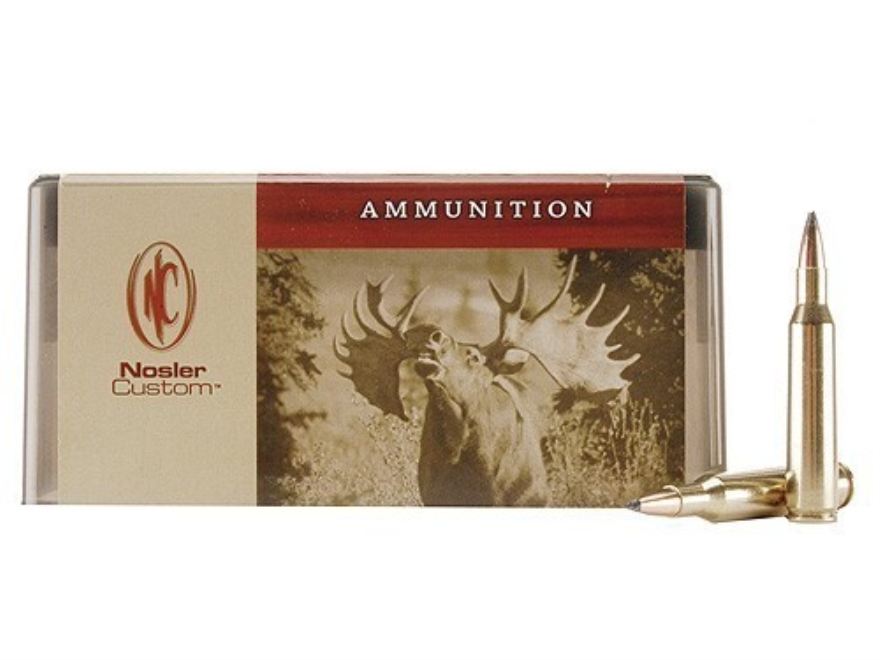 Nosler Custom Ammunition 257 Roberts +P 100 Grain Partition Spitzer Box of 20