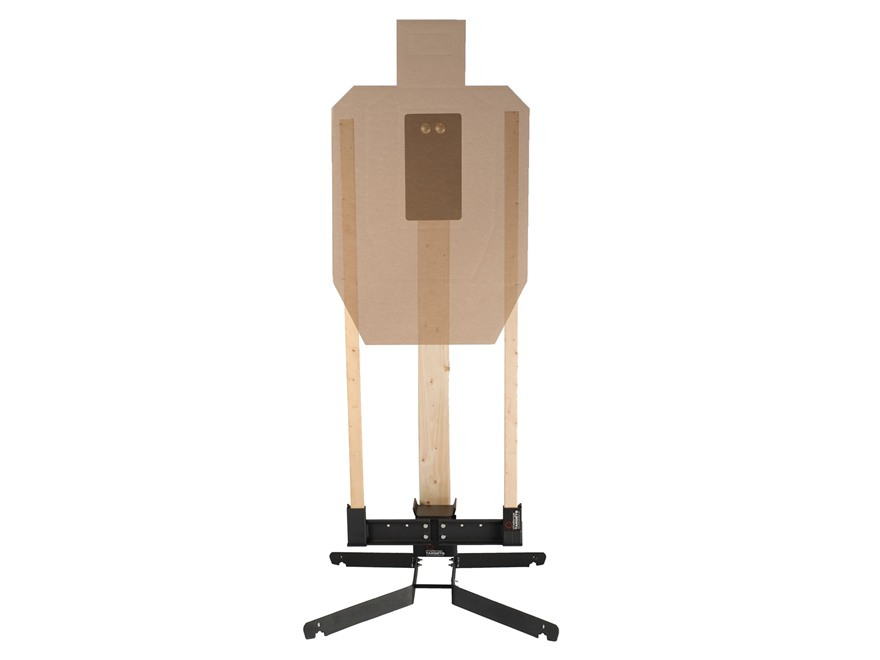 Challenge Targets HD Pivot Target Stand with Target Holder and Steel IPSC A Zone Rifle ...