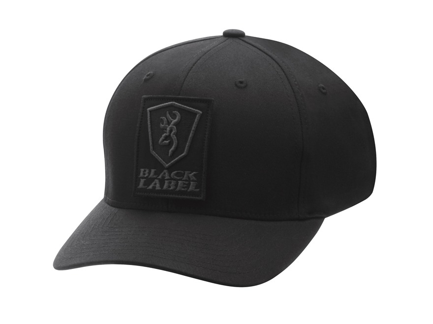 Browning Black Label Charlie Flex Fit Cap Twill Black Small/Medium