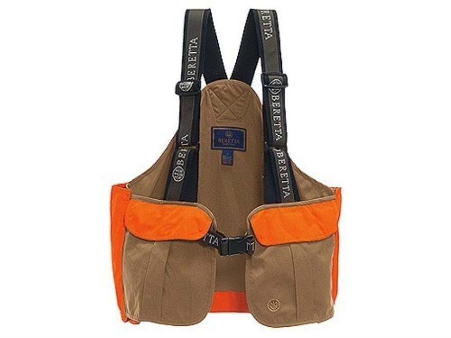 Beretta Men's Cordura Strap Vest Cotton and Cordura Tan and Blaze Orange XL/2XL