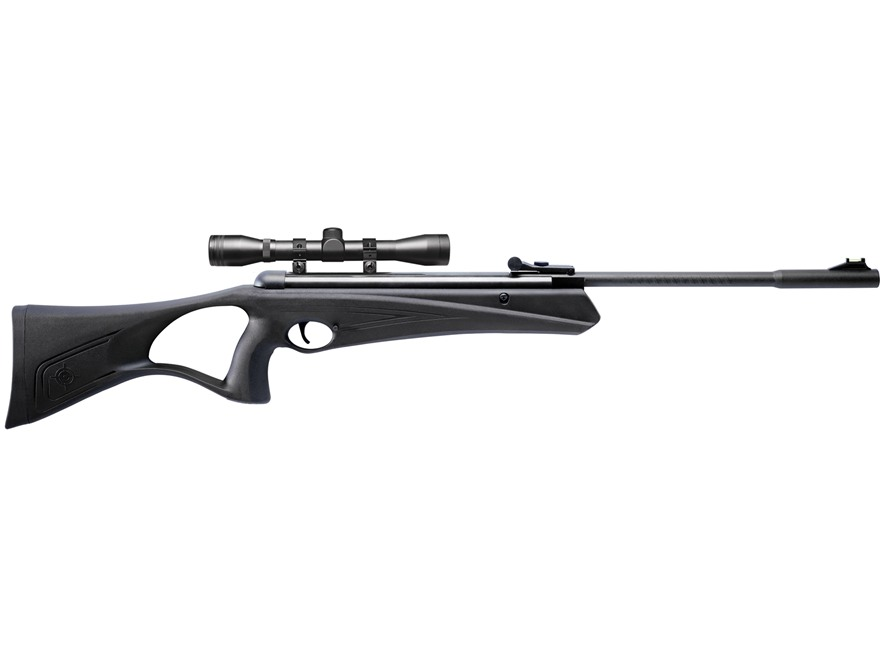 Crosman Raven Air Rifle 177 Caliber Pellet Polymer Stock Black Blue Barrel with Scope