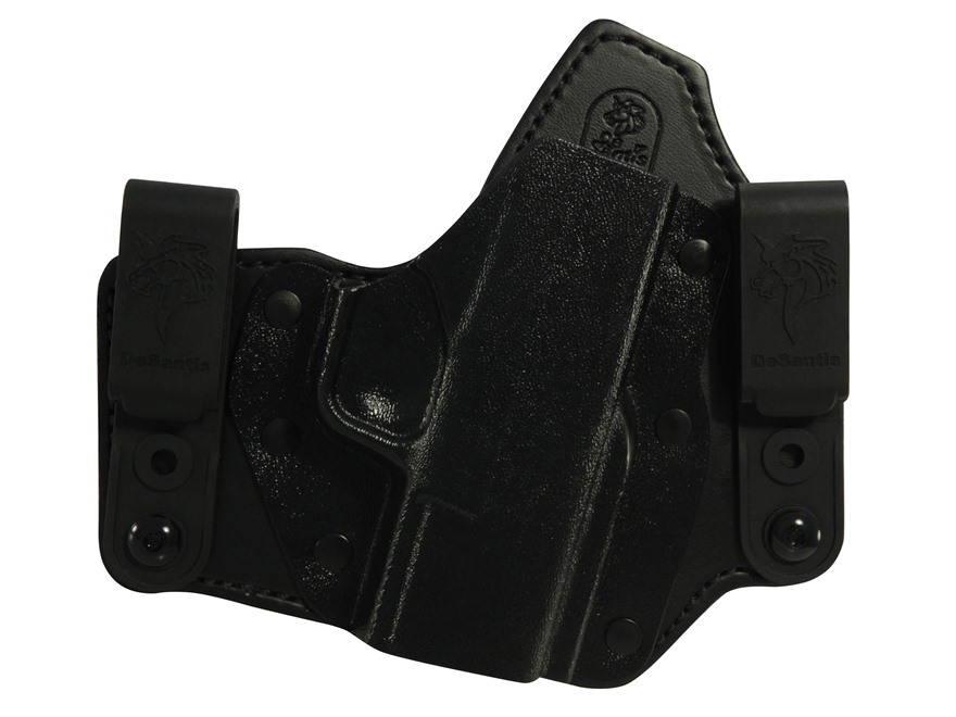 DeSantis Intruder Inside the Wasitband Holster Springfield XDS Leather and Kydex Black