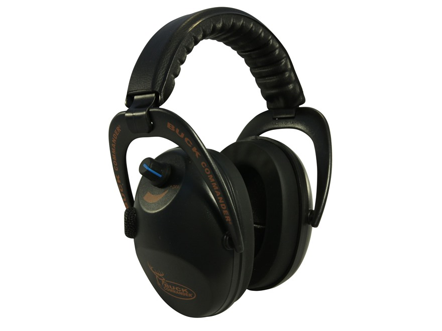 Walker's Buck Commander Alpha Power Muffs Electronic Earmuffs (NRR 24dB) Black