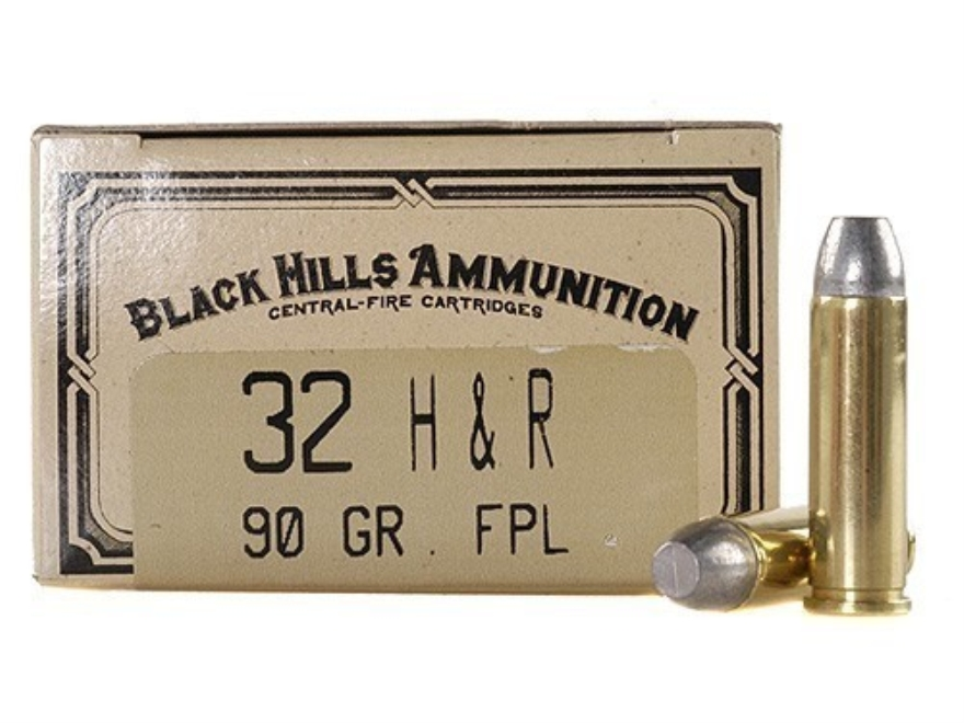 Black Hills Cowboy Action Ammunition 32 H&R Magnum 90 Grain Lead Flat Point Box of 50