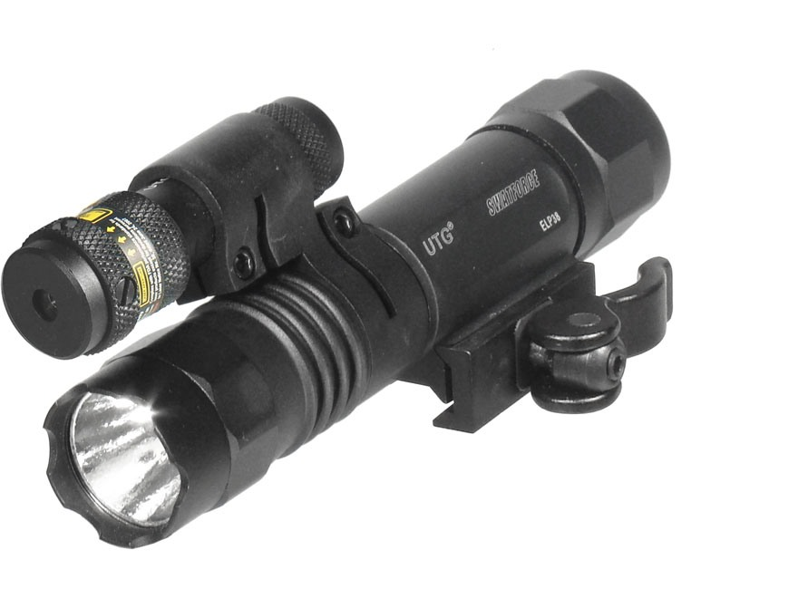 Leapers UTG Tactical LED Flashlight and Red Laser Sight with Quick Disconnect Weaver-st...