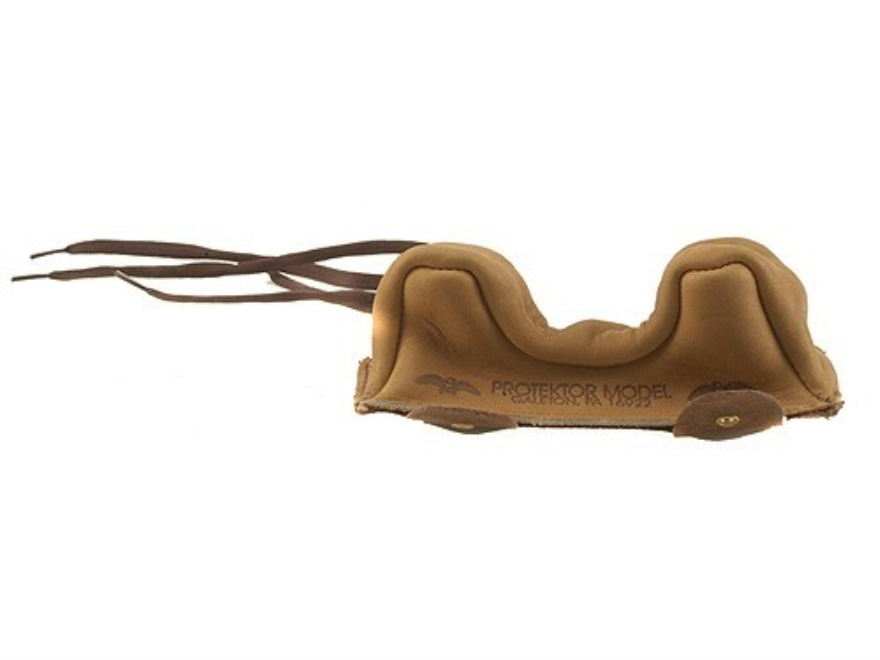 Protektor Owl Ear Rifle Front Shooting Rest Bag Medium Leather Tan Unfilled