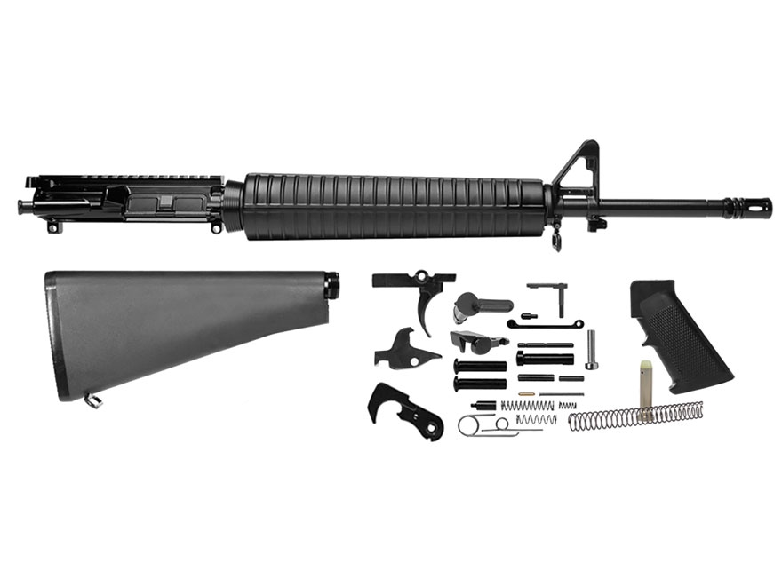 "Del-Ton Rifle Kit AR-15 5.56x45mm NATO 1 in 9"" Twist 20"" Government Contour Barrel"