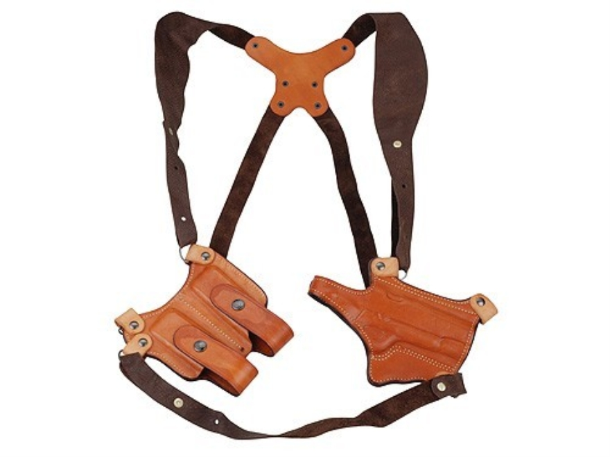 Ross Leather Shoulder Holster System Right Hand 1911 Leather Tan