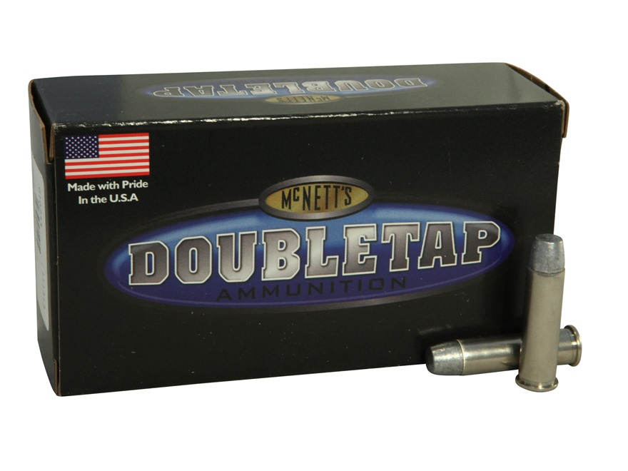 Doubletap Ammunition 357 Magnum 200 Grain Hard Cast Lead Wide Flat Nose Gas Check Box o...