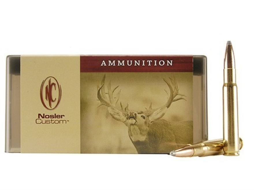 Nosler Custom Ammunition 338-06 A-Square 225 Grain Partition Spitzer Box of 20