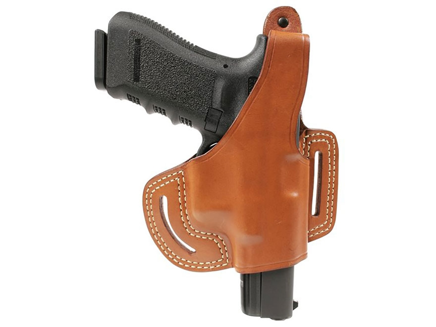 BLACKHAWK! Leather Slide Thumb Break Belt Holster Right Hand Leather Brown