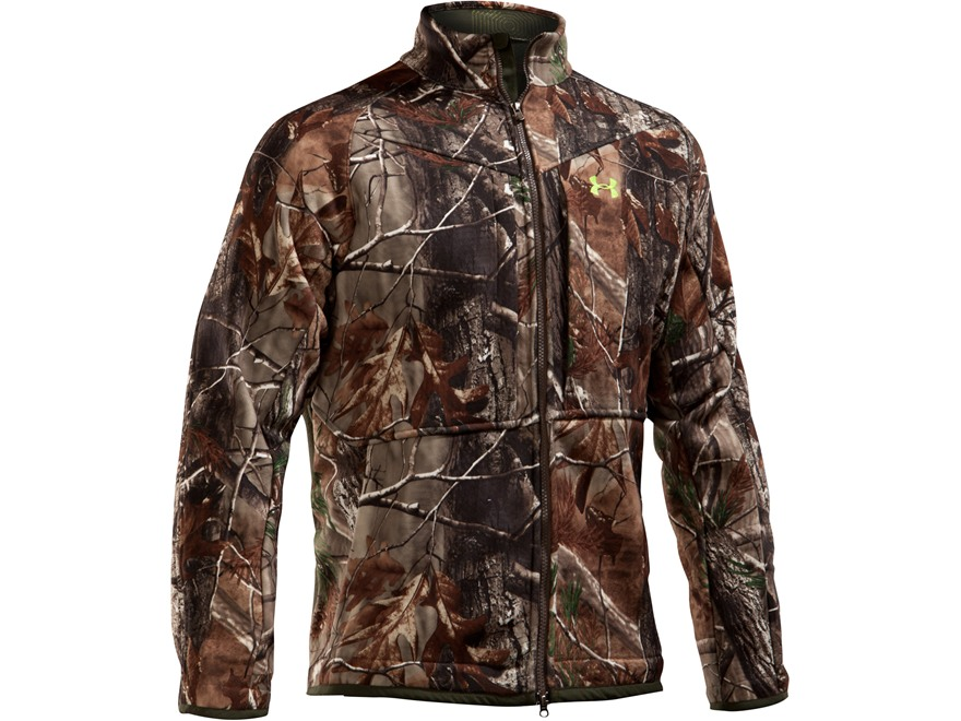 Under Armour Men's The Rut Scent Control Jacket Polyester Realtree AP Camo Large 41-43