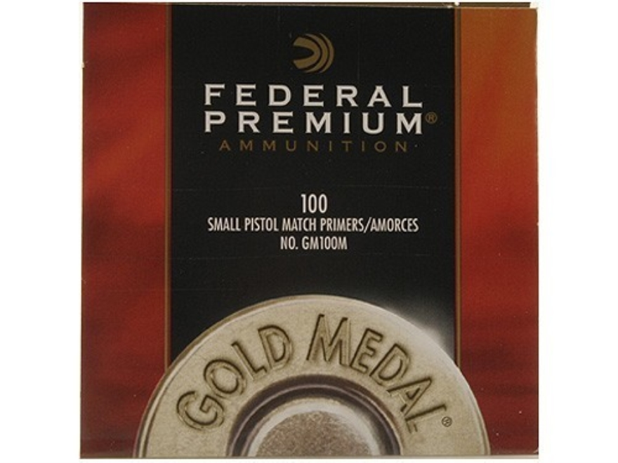 Federal Premium Gold Medal Small Pistol Match Primers #100M