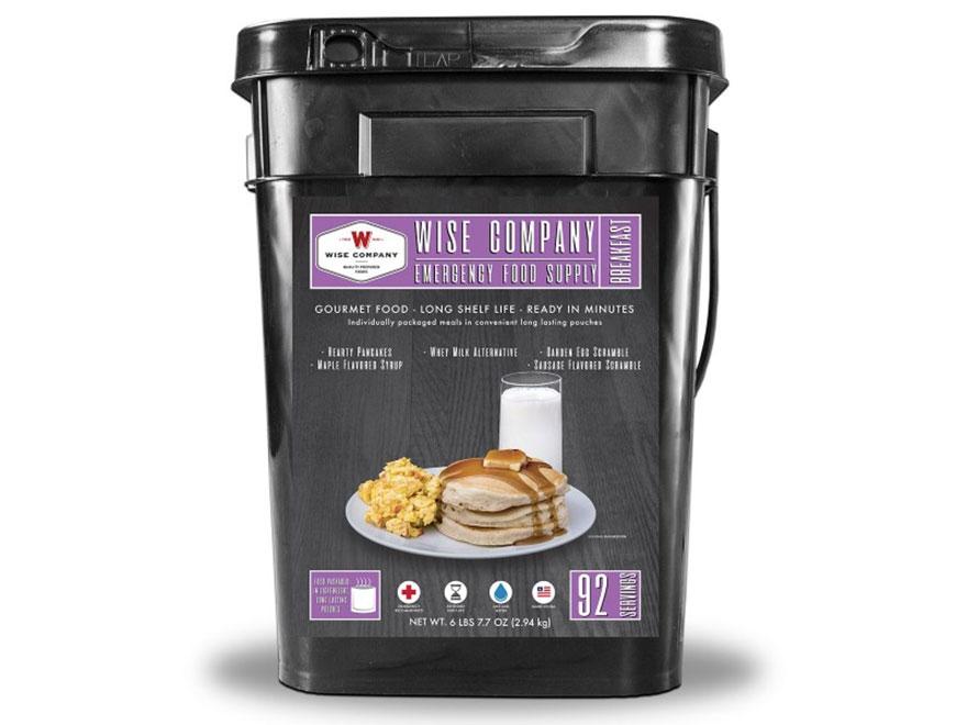 Wise Food 92 Serving Breakfast Freeze Dried Food Bucket