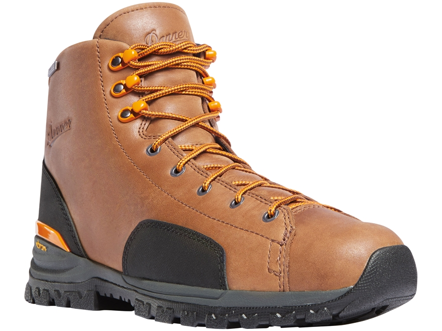 "Danner Stronghold 6"" Waterproof Work Boots Leather/Nylon Brown/Orange Men's"