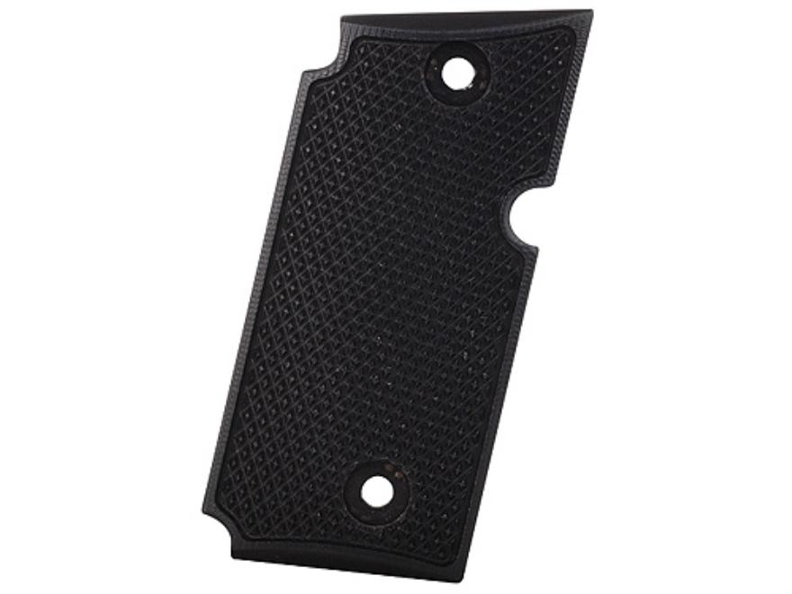 AlumaGrips Slimline Grips Sig Sauer P238 Checkered Aluminum Black