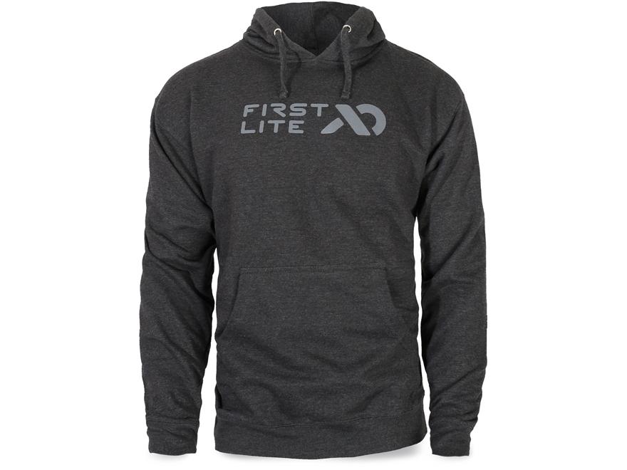 First Lite Men's Horizontal Logo Premium Hoody Cotton