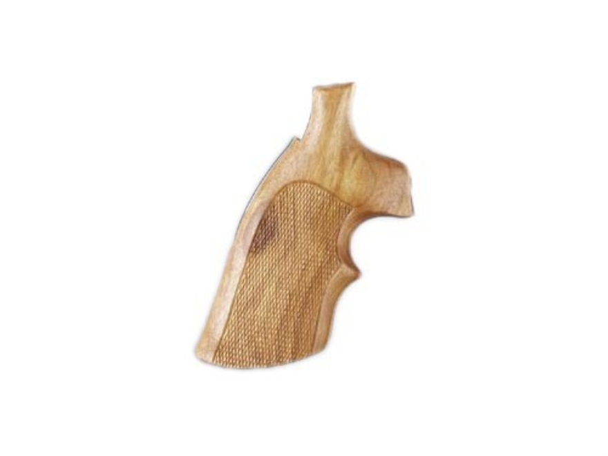Hogue Fancy Hardwood Grips with Top Finger Groove S&W N-Frame Square Butt Checkered