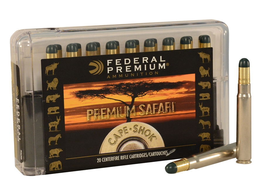 Federal Premium Cape-Shok Ammunition 9.3x62mm Mauser 286 Grain Woodleigh Hydrostaticall...