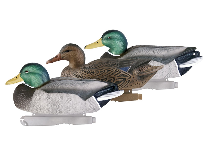 GHG Life-Size Mallard Duck Decoy Pack of 6