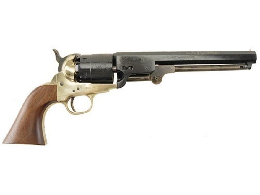 "CVA 1851 Navy Brass Frame Cap and Ball Revolver 44 Caliber 7-1/2"" Blue Barrel"