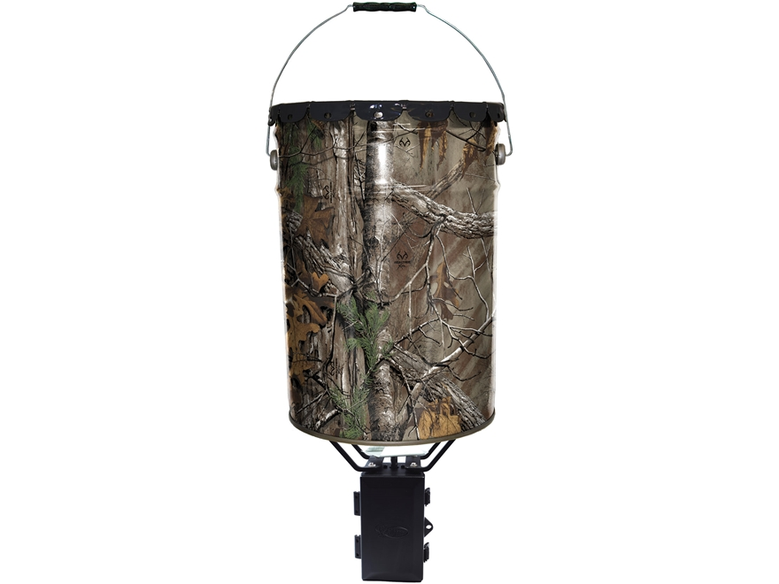 Wildgame Innovations Quick Set 50 Game Feeder 6.5 Gallon Realtree Xtra Camo