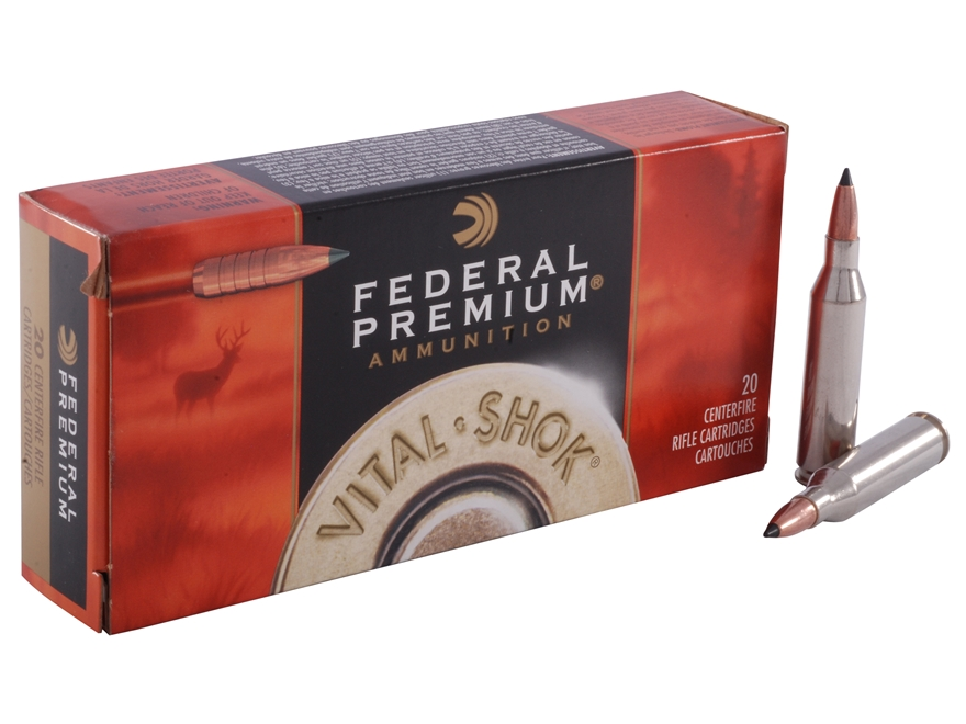 Federal Premium Vital-Shok Ammunition 243 Winchester 85 Grain Trophy Copper Tipped Boat...