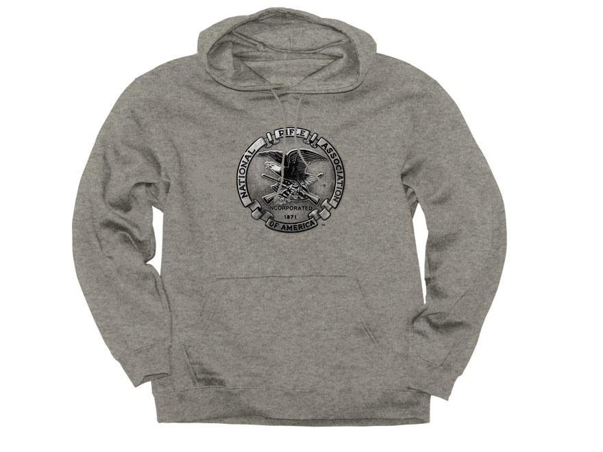 NRA Men's Pewter Hooded Sweatshirt