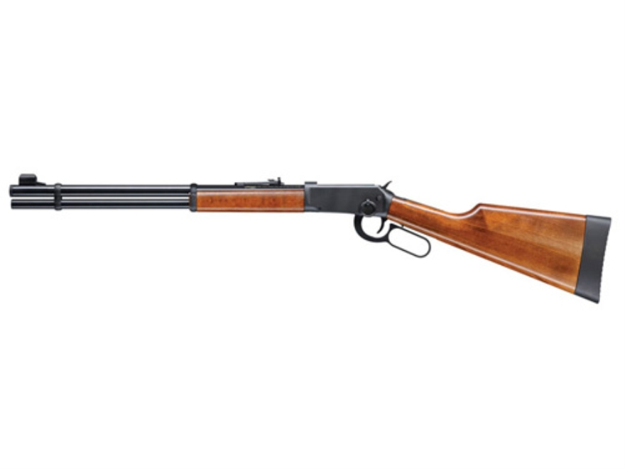 Walther Lever Action Air Rifle 177 Caliber Pellet Wood Stock Blue Barrel