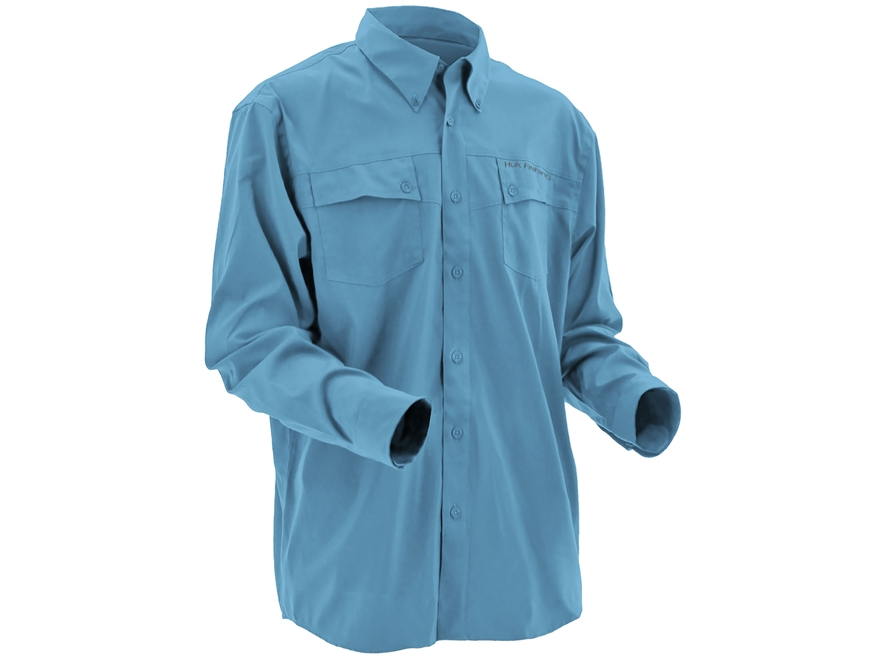 Huk Men's Phenom Button-Up Shirt Long Sleeve Polyester