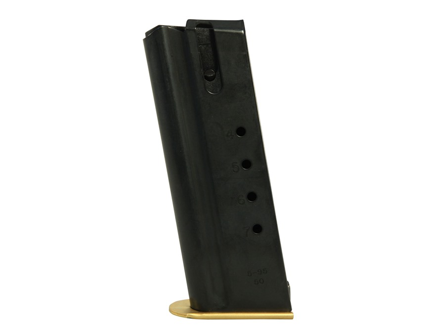 Magnum Research Magazine Desert Eagle 50 Action Express 7-Round Steel Black with 24k Go...