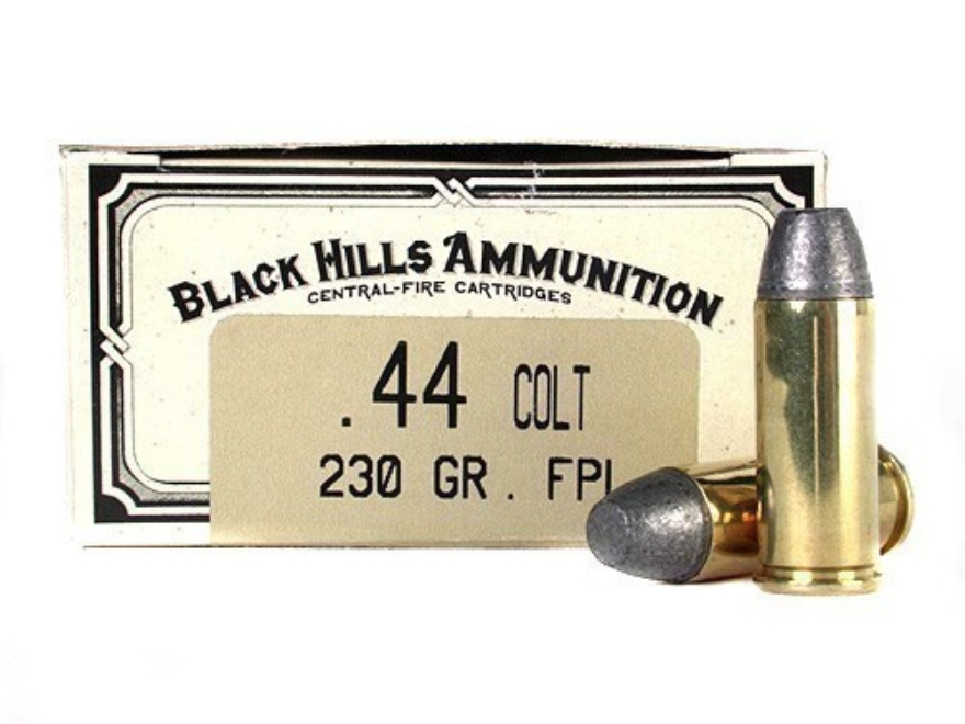 Black Hills Cowboy Action Ammunition 44 Colt 230 Grain Lead Flat Nose Box of 50