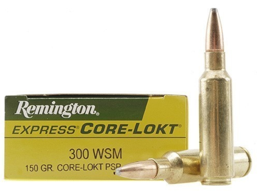 Remington Express Ammunition 300 Winchester Short Magnum (WSM) 150 Grain Core-Lokt Poin...