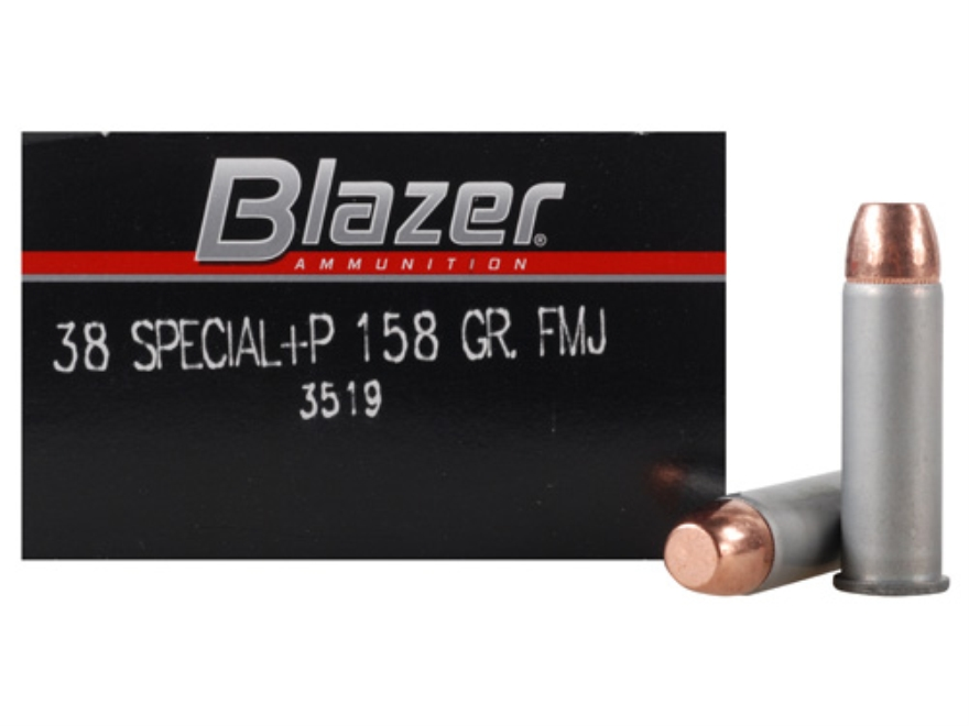 Blazer Ammunition 38 Special +P 158 Grain Full Metal Jacket Box of 50