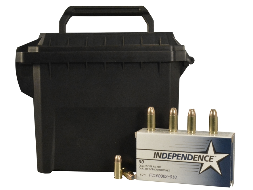 Independence Ammunition 9mm Luger 115 Grain Jacketed Hollow Point Ammo Can of 250 (5 Bo...