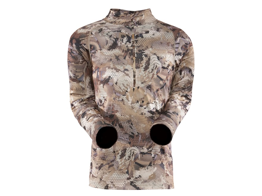 Sitka Gear Men's Core Zip-T Base Layer Shirt Polyester Gore Optifade Waterfowl Camo Lar...