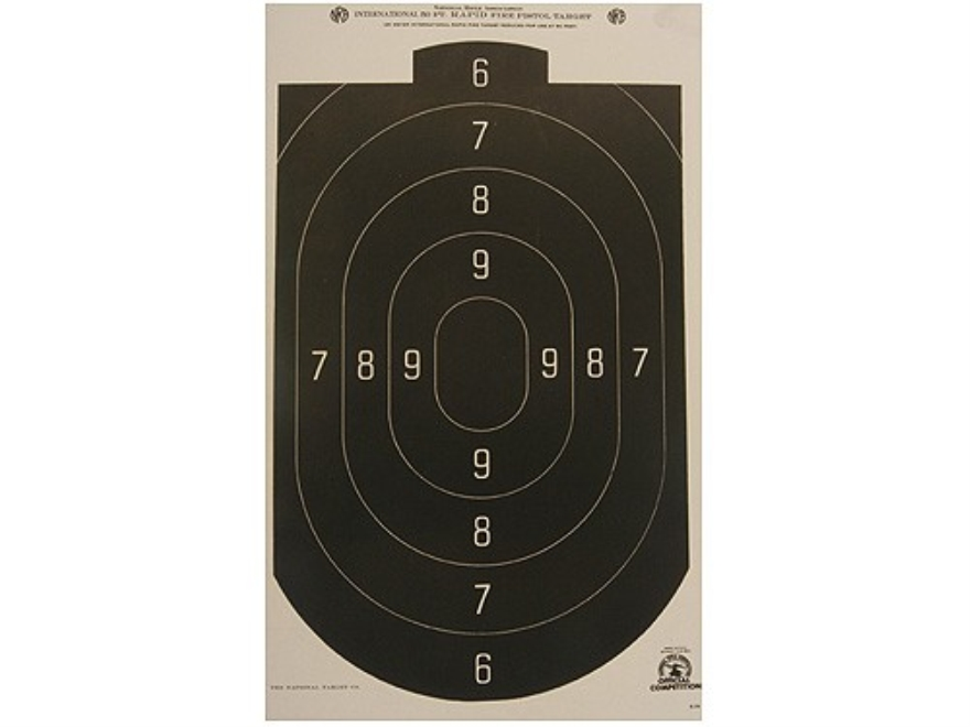 NRA Official Action Pistol Targets B-24 50' Paper Package of 100