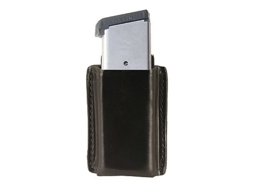 Galco Quick Single Magazine Pouch 45 ACP, 10mm Single Stack Magazine Leather Black
