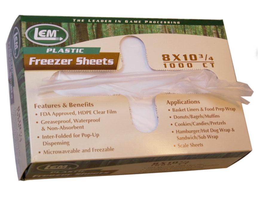 "LEM 8"" x 10.75"" Freezer Sheets Pack of 1000"