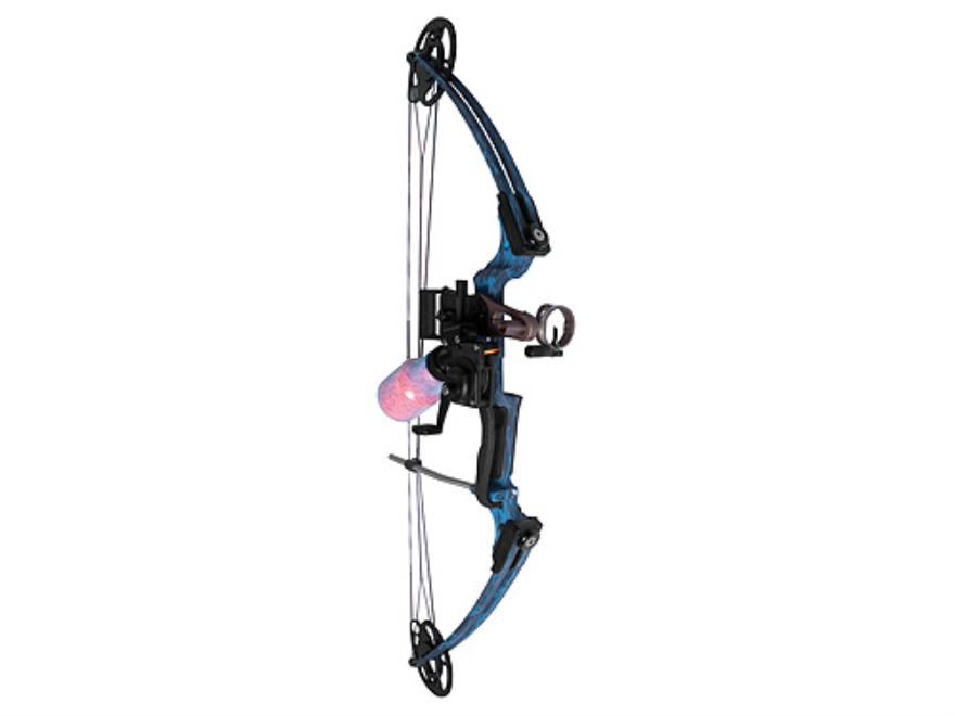 AMS Fire Eagle Bowfishing Bow Package with Retriever Pro Reel  40-50 lb Right Hand Blue...