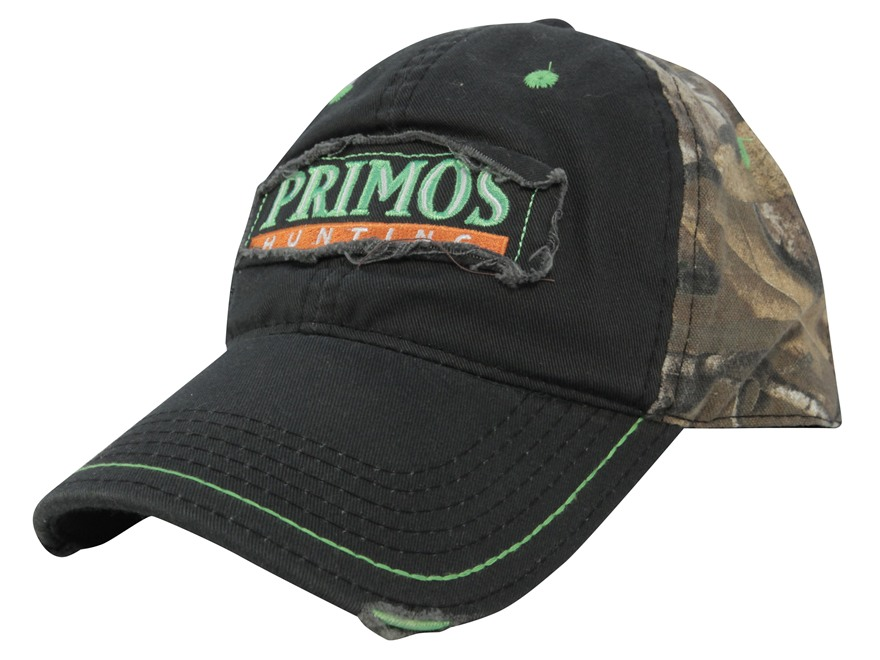 Primos Logo Cap Cotton Olive and Realtree Xtra Camo