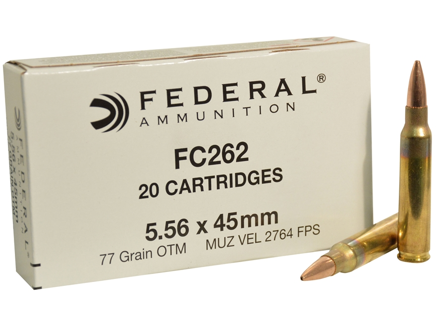 Federal Ammunition 5.56x45mm NATO 77 Grain Open Tip Match