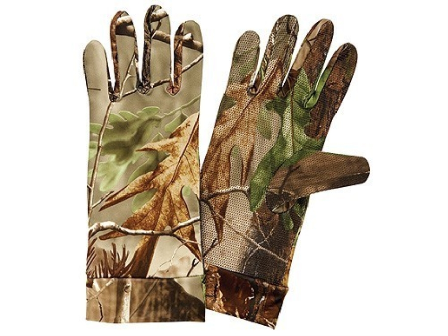 Hunter's Specialties Long Cuff Dot Grip Gloves Polyester Realtree APG Camo