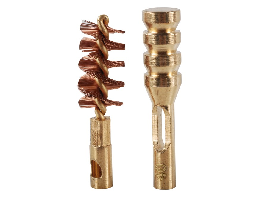 Real Avid ZipWire Pistol Cleaning Brush and Jag .40 Caliber Brass Combo Pack