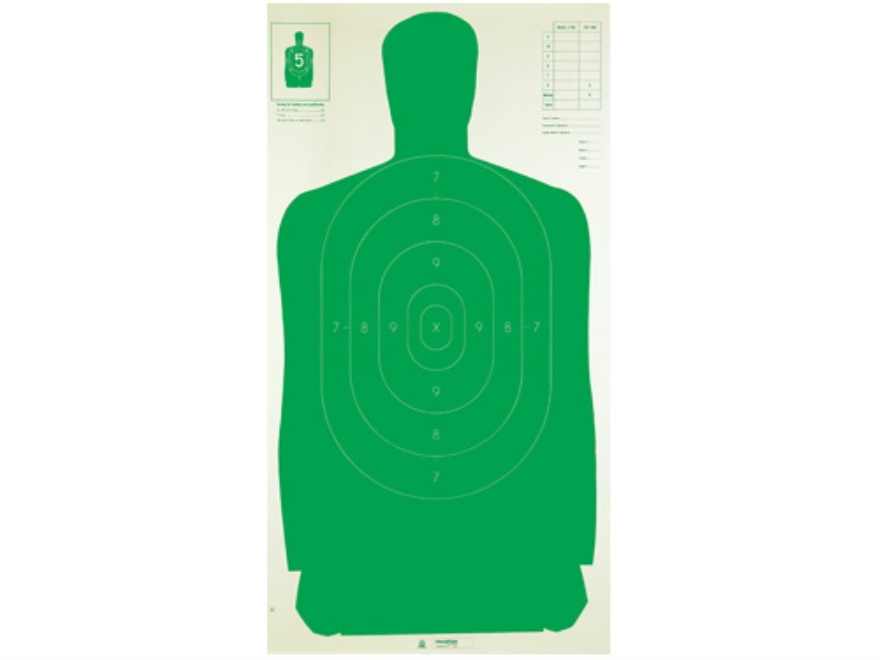 "Champion LE Green Silhouette Targets B-27 FSA 24"" x 45"" Paper Pack of 100"